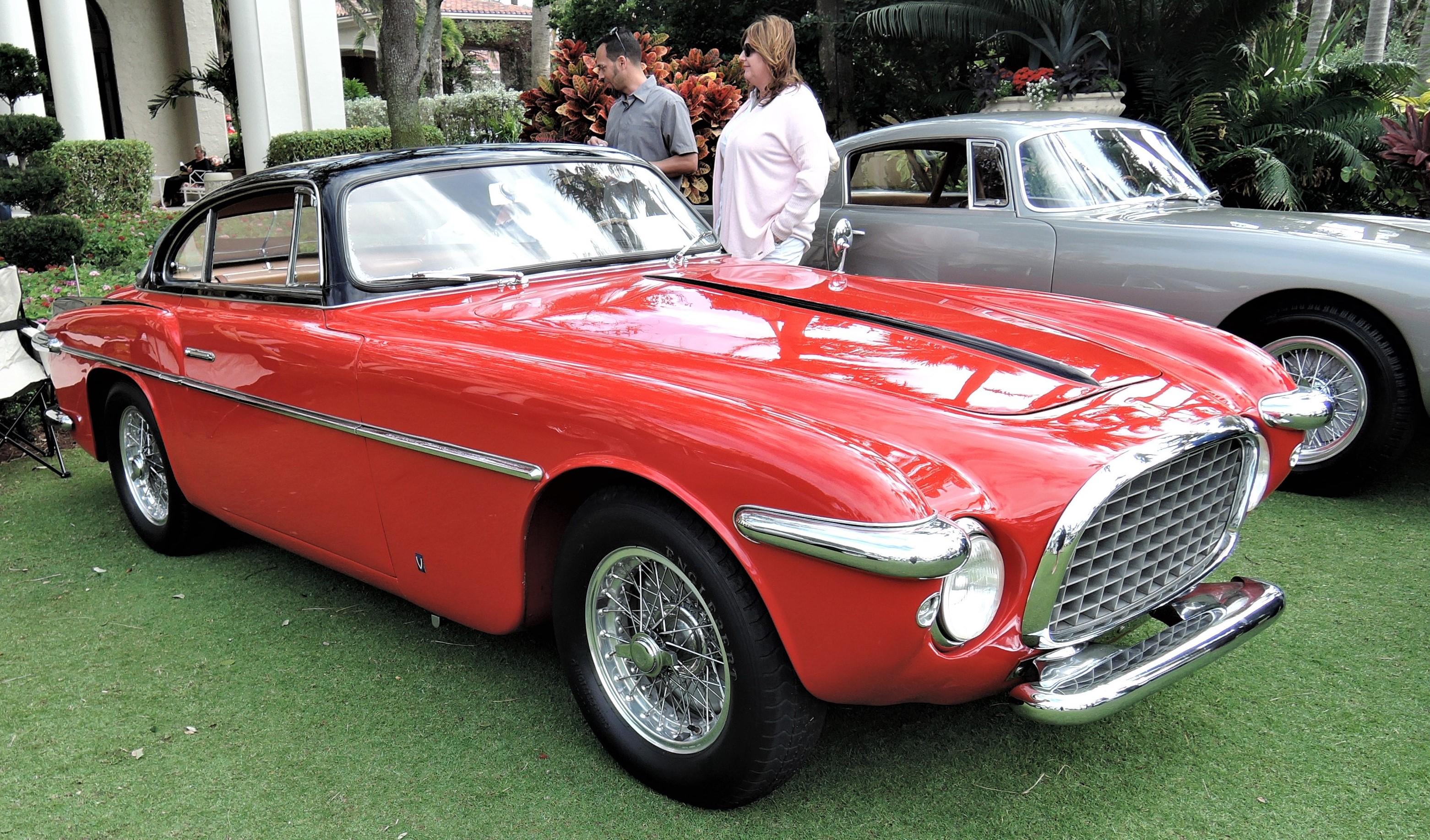 red 1953 Ferrari 212 Inter Coupe Vignale; Sn 0285 EU - Cavallino 2018 Concours