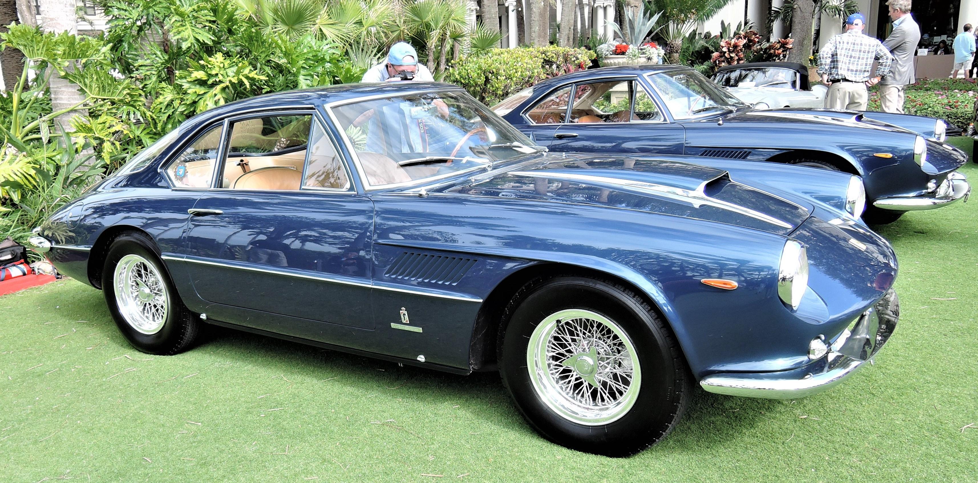 blue 1962 Ferrari 400 SA Aerodinamico; Sn 3361 SA - Cavallino 2018 Concours