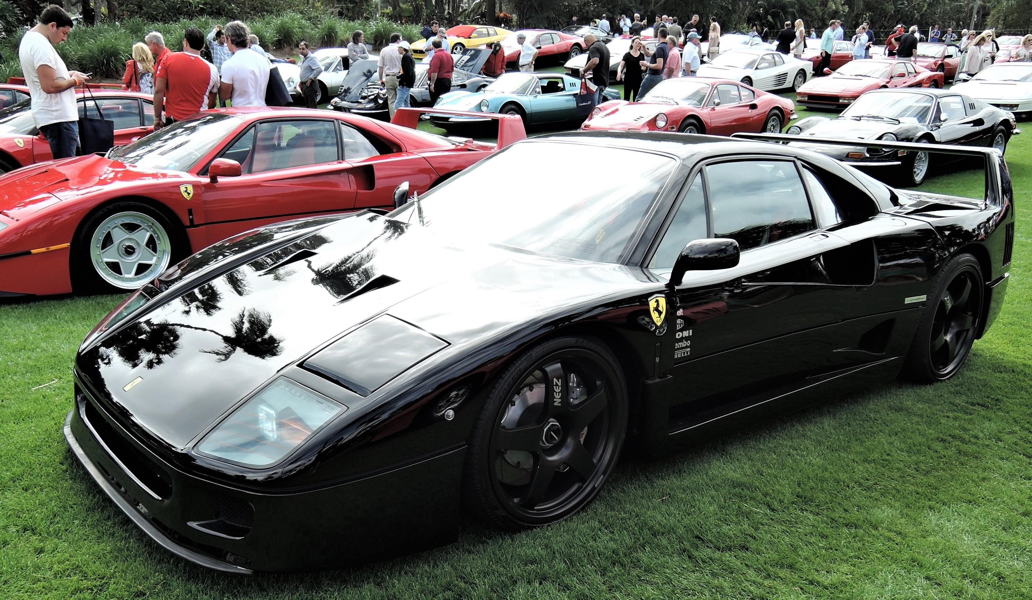 black 1992 Ferrari F40; Sn 501991 - Cavallino 2018 Concours