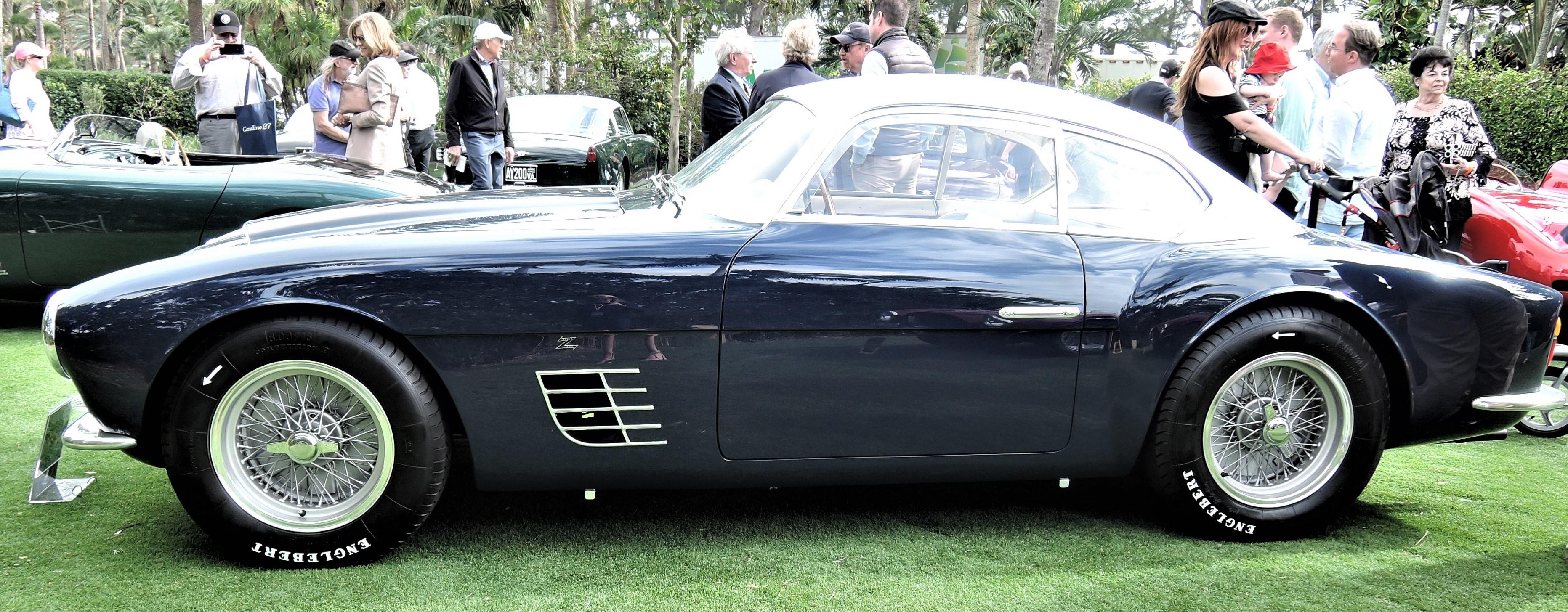 blue 1956 Ferrari 250 GT Zagato; Sn 0515 GT - Cavallino 2018 Concours