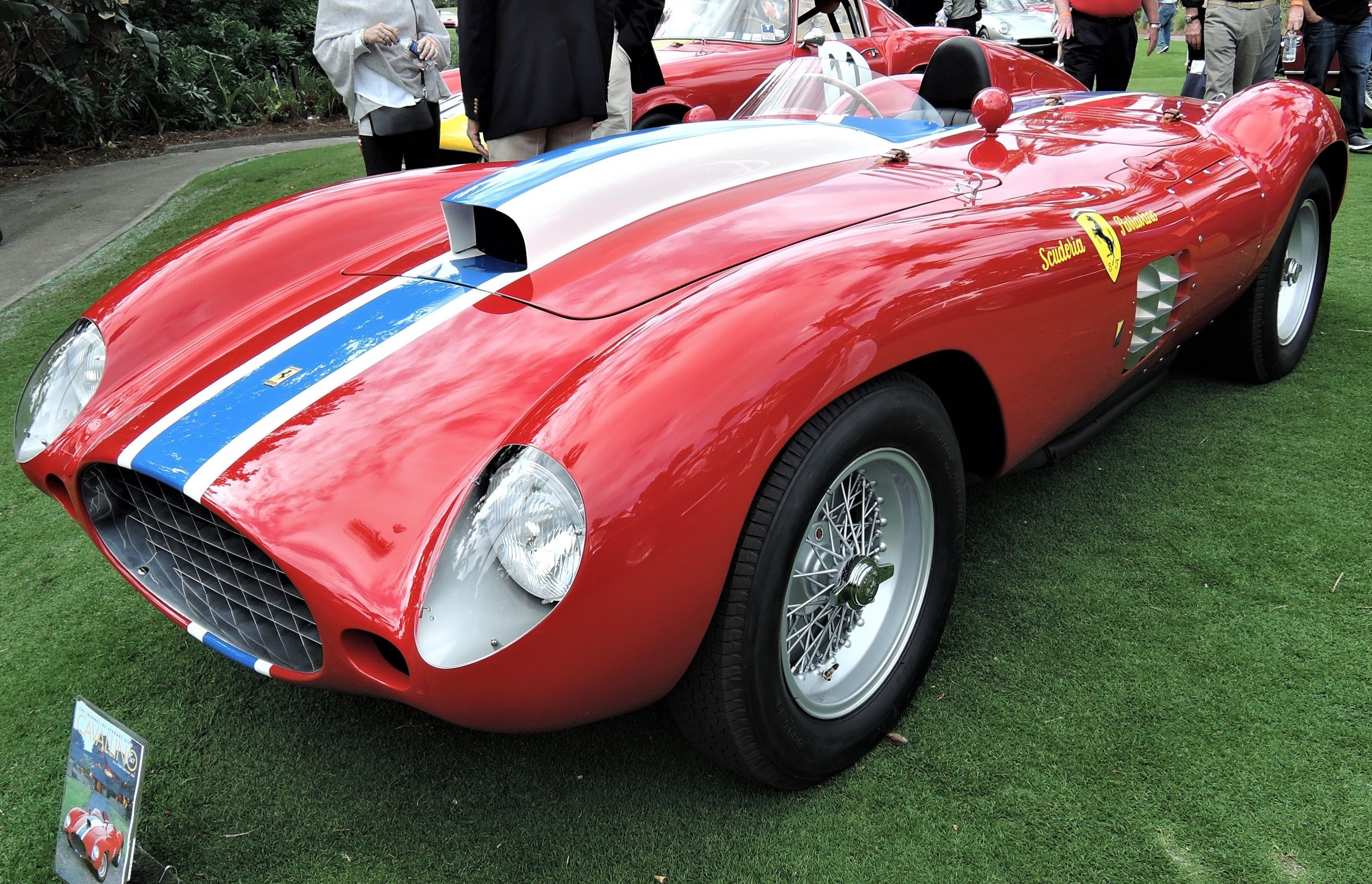 red 1955 Ferrari 410 Sport Scaglietti Spyder; Sn 0592 CM(Carrera Messicana) - Cavallino 2018 Concours