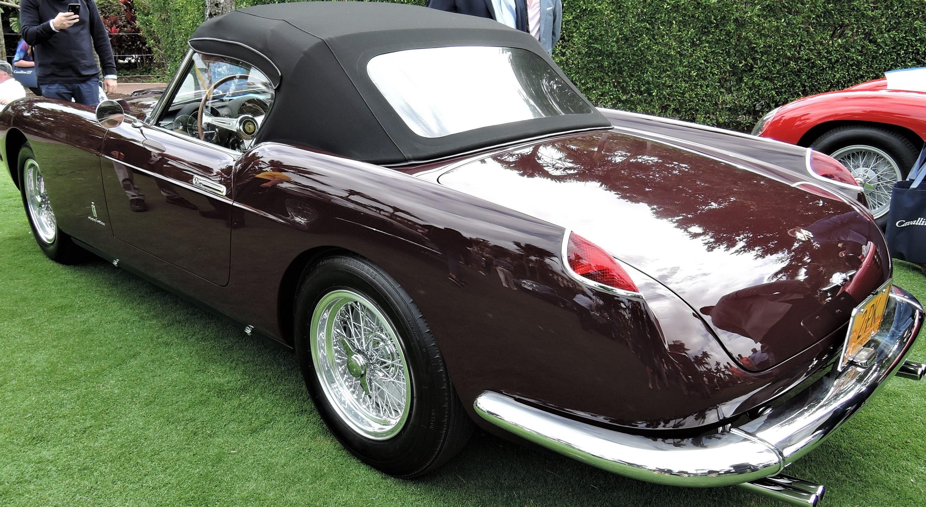 dark red 1958 Ferrari 250 GT PF Cabriolet; Sn 0813 GT - Cavallino 2018 Concours