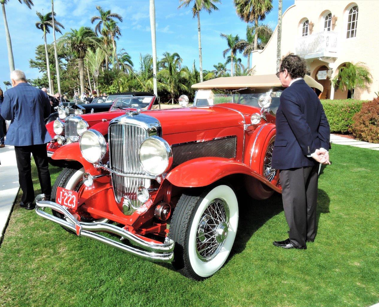 red 1929 Duesnberg Model J LeBaron Dual Cowl Phaeton won Best of Show 2018 Cavallino Sunday Mar a Lago