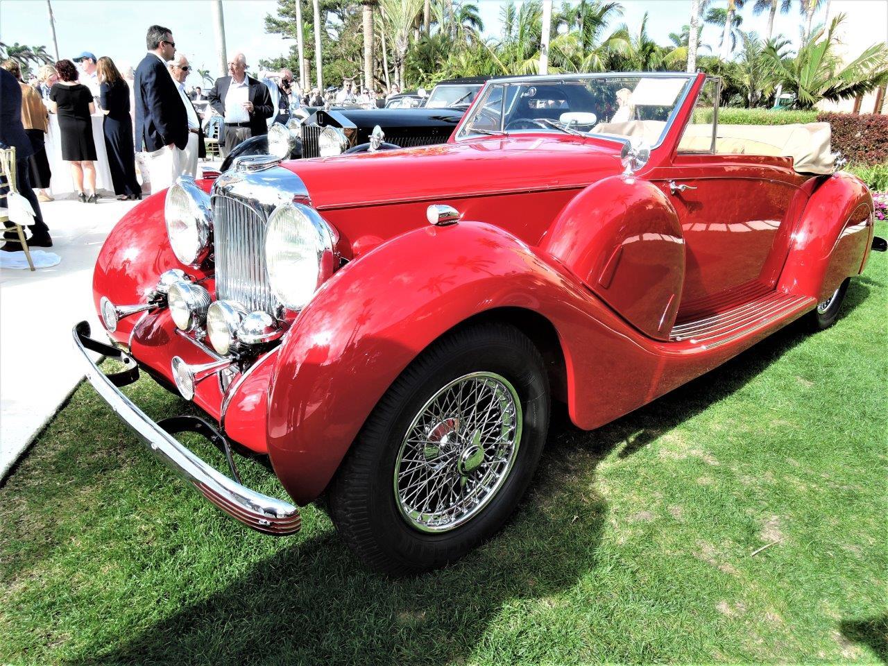 red 1939 Lagonda V-12 Drop Head Coupe; Sn 14113 - 2018 Cavallino Sunday Mar a Lago