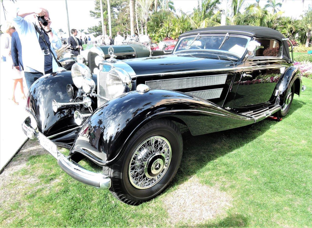 black 1937 Mercedes-Benz 540 K Cabriolet A; Sn V54083 - 2018 Cavallino Sunday Mar a Lago