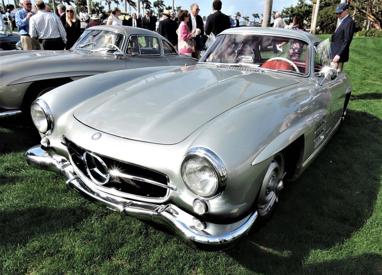 silver 1955 Mercedes-Benz 300 SL Coupe; Sn 5500189 - 2018 Cavallino Sunday Mar a Lago