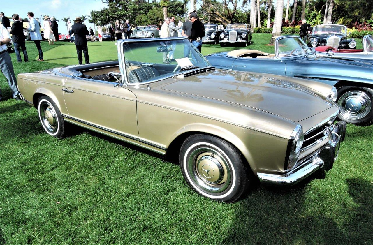 gold 1964 Mercedes-Benz 230 SL - 2018 Cavallino Sunday Mar a Lago