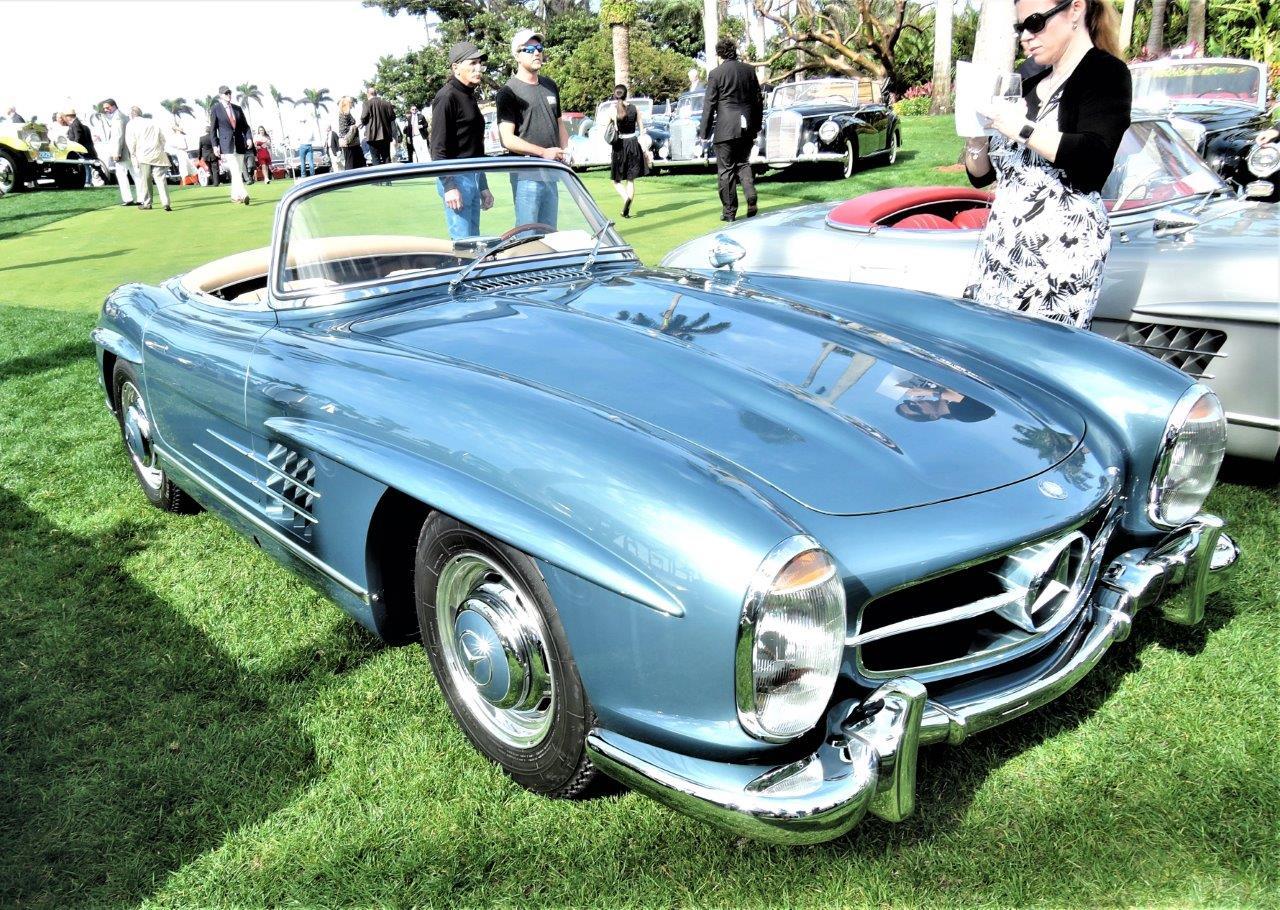 blue 1958 Mercedes-Benz 300 SL Roadster; Sn 500204 - 2018 Cavallino Sunday Mar a Lago