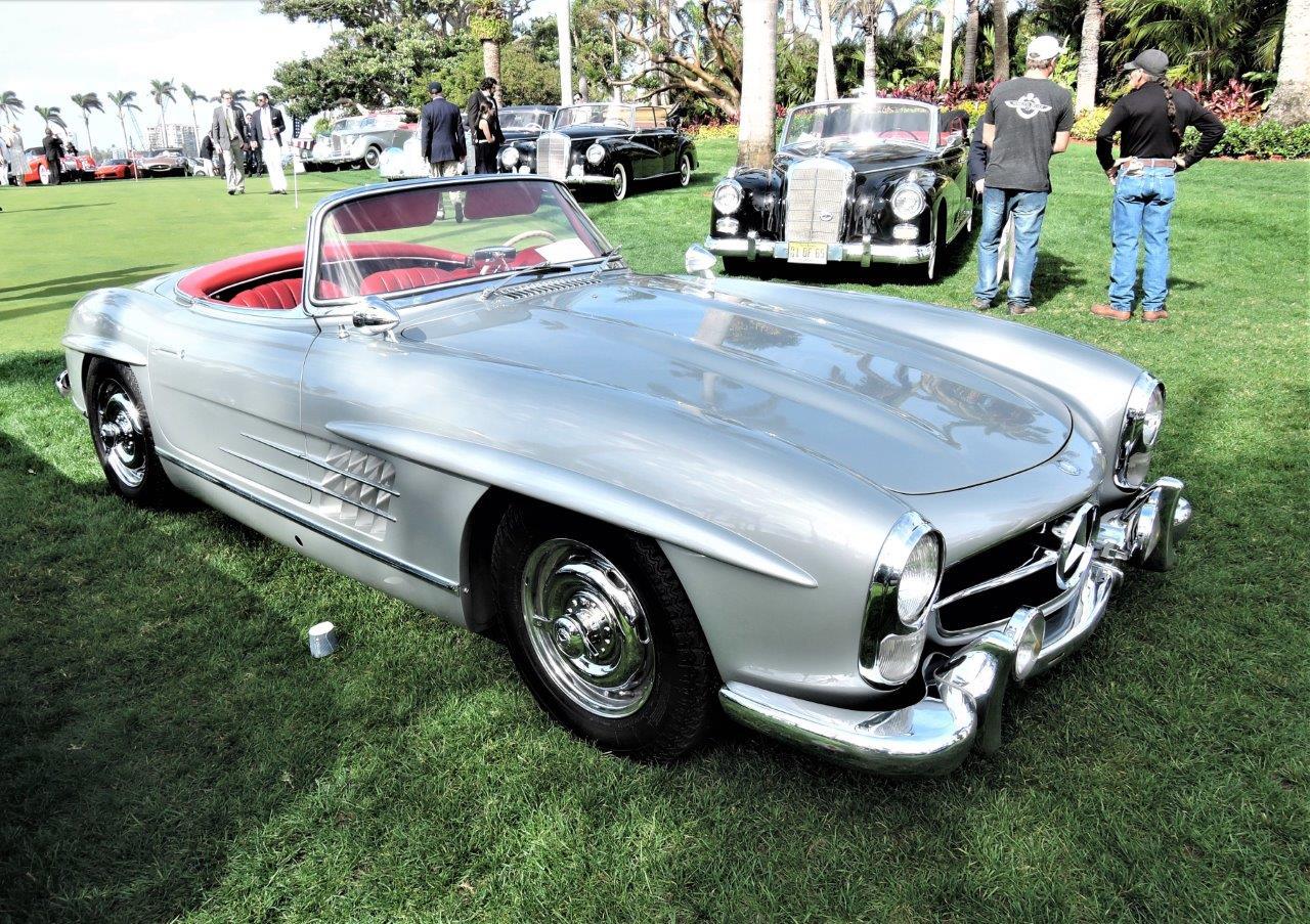 silver 1961 Mercedes-Benz 300 SL Roadster; Sn 502983 - 2018 Cavallino Sunday Mar a Lago