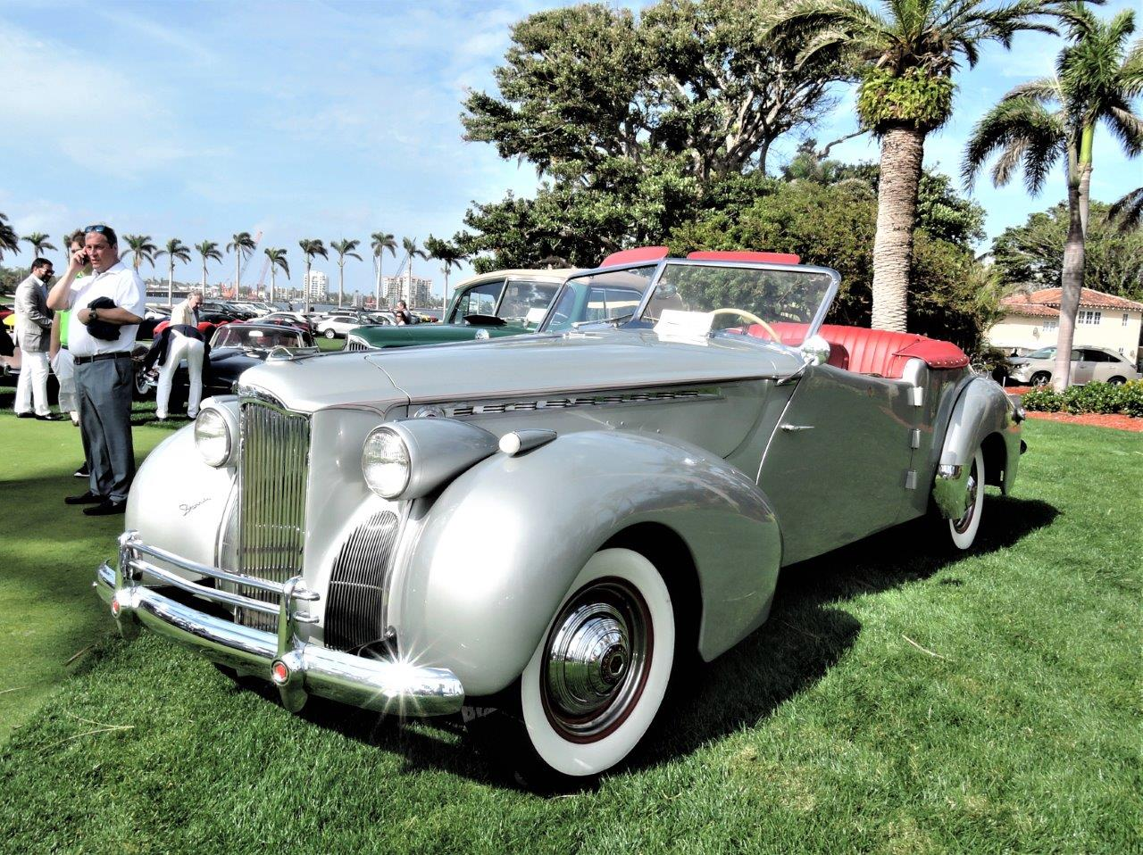 silver 1939 Packard 120 Darrin Convertible - 2018 Cavallino Sunday Mar a Lago