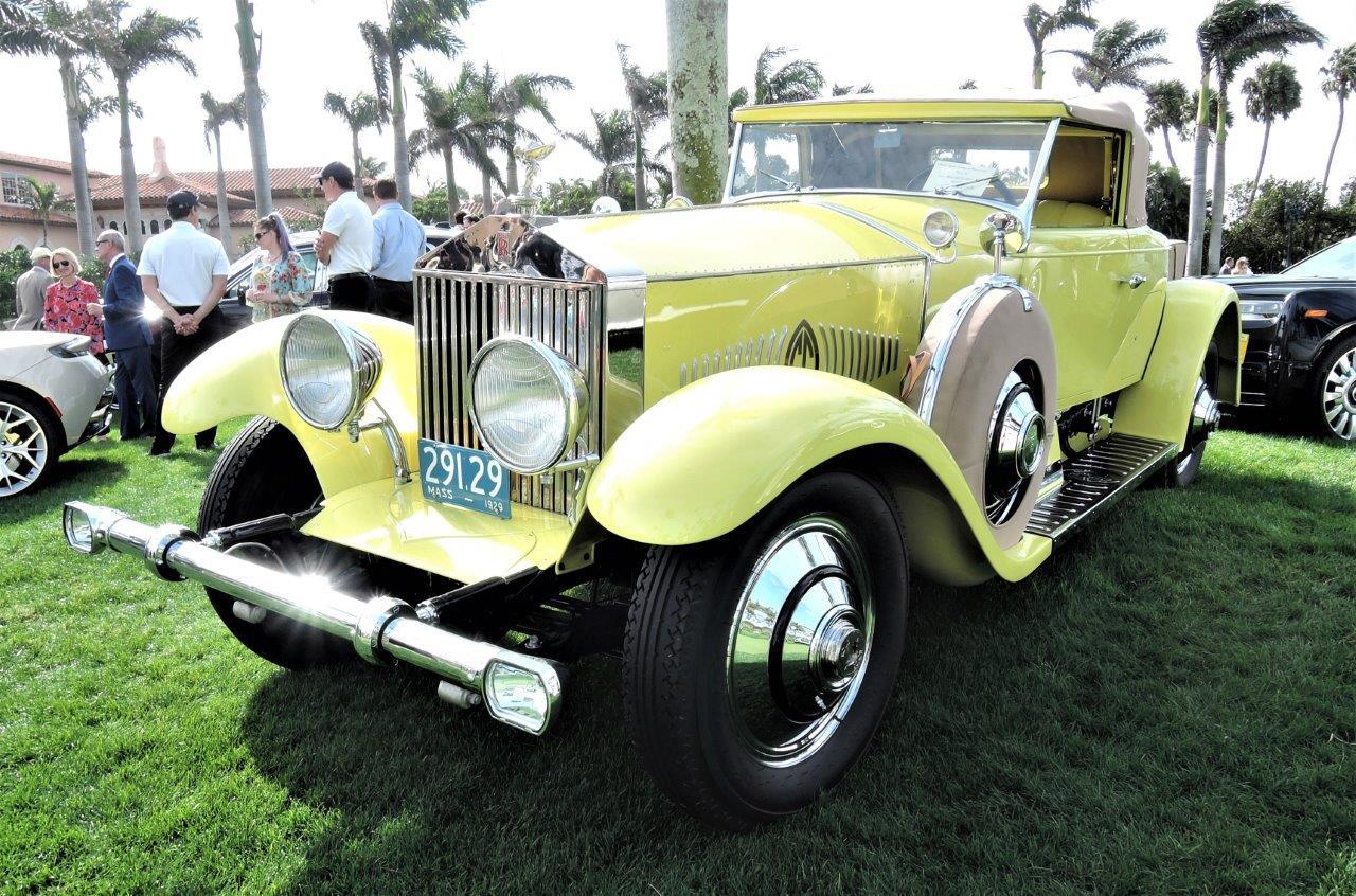yellow 1928 Rolls-Royce Springfield Phantom; Sn S 293 FP - 2018 Cavallino Sunday Mar a Lago