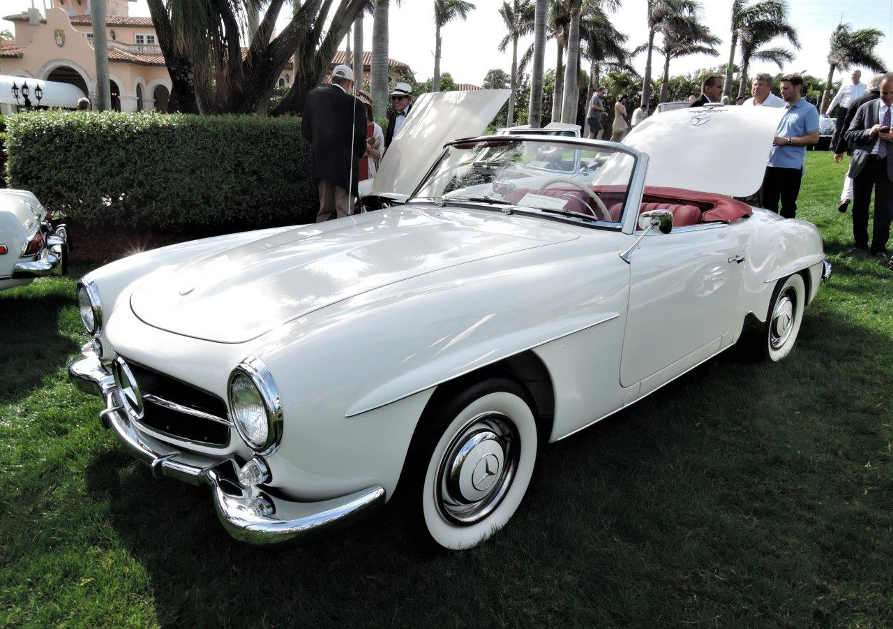polo white 1963 Mercedes-Benz 190 SL; Sn ...025161 - 2018 Cavallino Sunday Mar a Lago