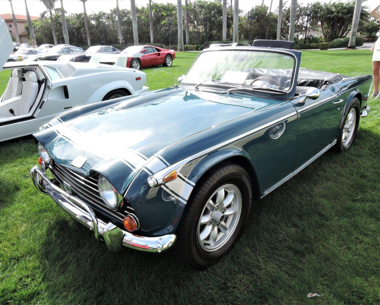 blue 1968 Triumph TR 250; Sn CD63262 - 2018 Cavallino Sunday Mar a Lago