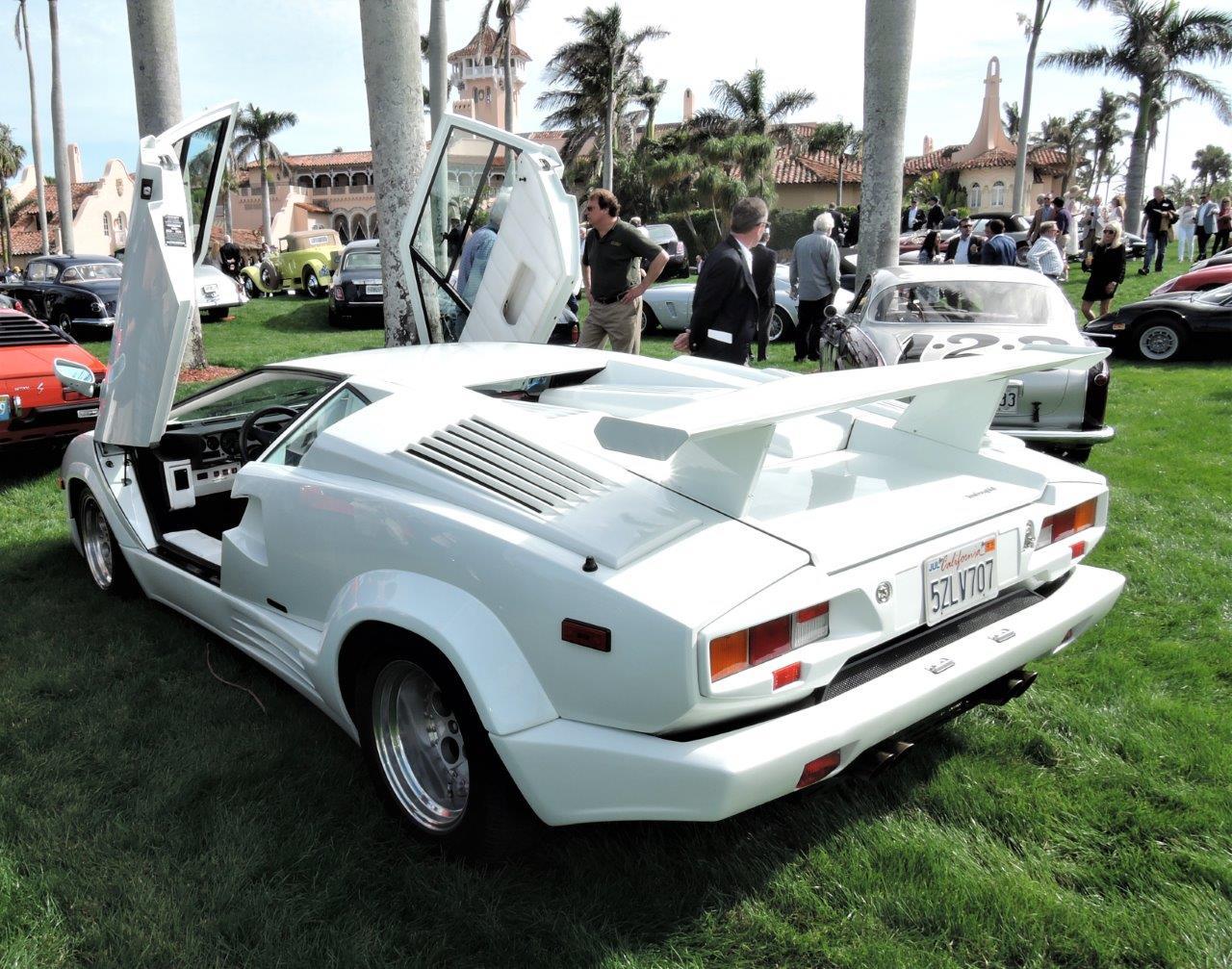 white 1989 Lamborghini Countach; Sn ZA9CA05AZKLA - 2018 Cavallino Sunday Mar a Lago