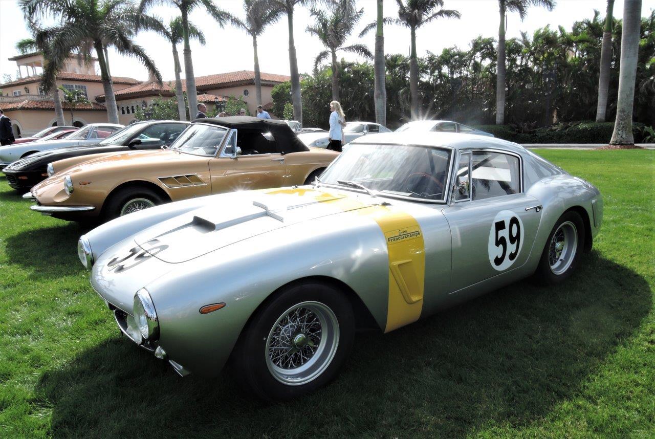 silver/yellow 1961 Ferrari 250 GT SWB SEFAC: Sn 2445 GT - 2018 Cavallino Sunday Mar a Lago