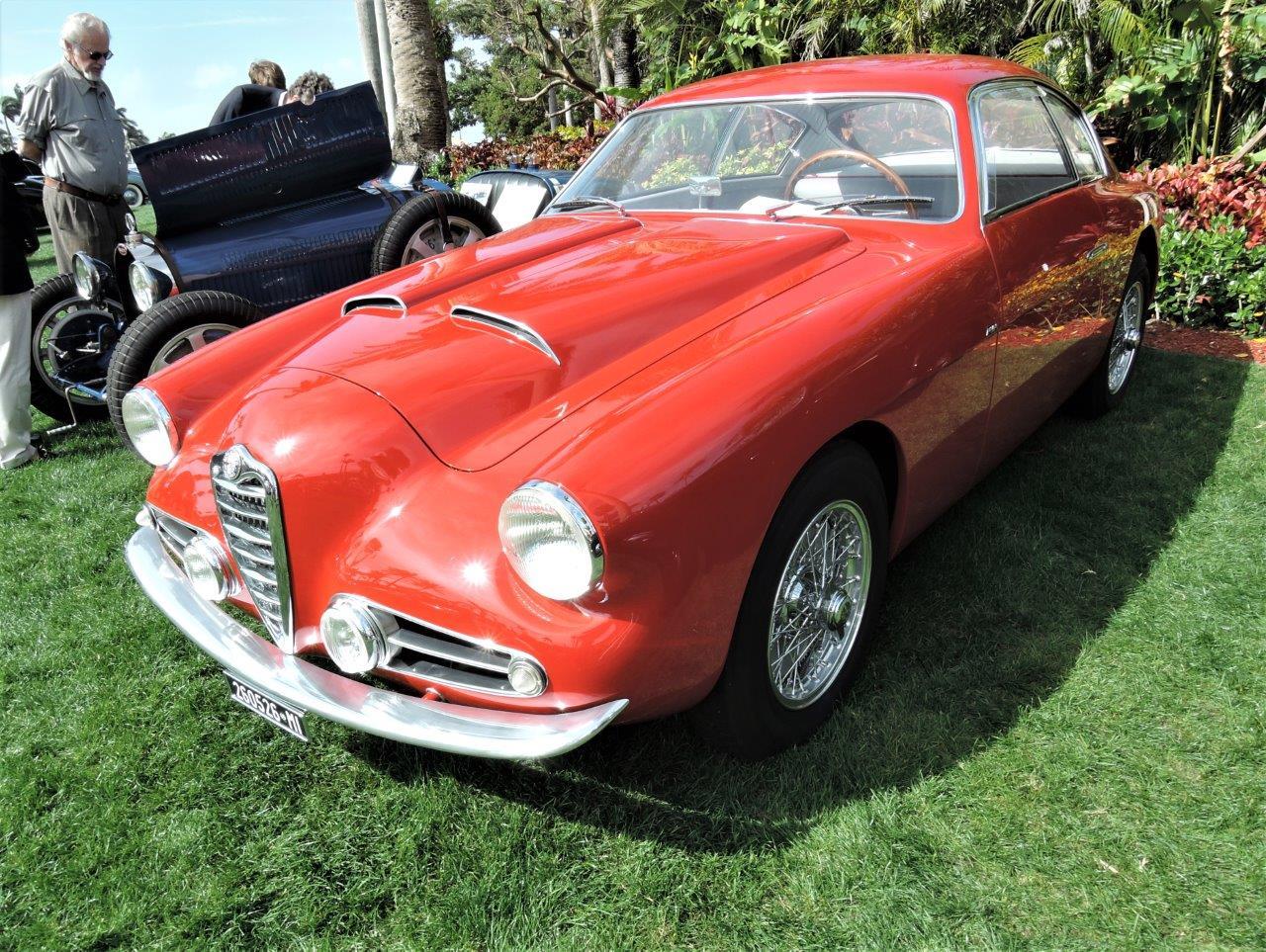 red 1954 Alfa Romeo 1900C SS Zagato; Sn AR1900C1844 - 2018 Cavallino Sunday Mar a Lago
