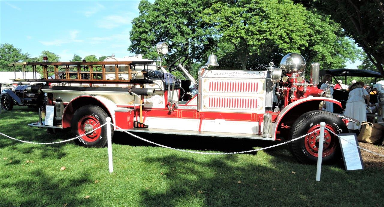 red 1923 Ahrens-Fox JM-4 Fire Engine - 2018 Greenwich Concours Americana