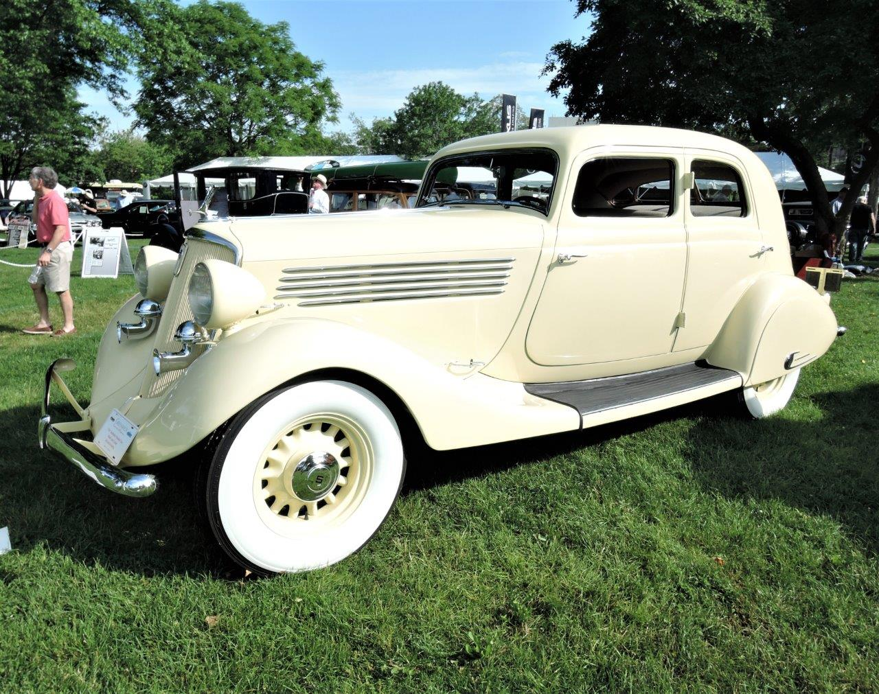 white 1934 Studebaker President Year Ahead Land Cruiser - 2018 Greenwich Concours Americana