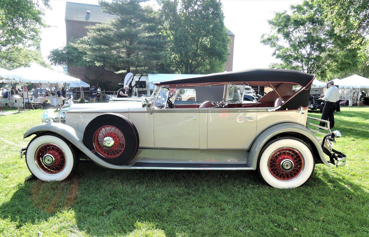 cream 1930 Packard 740 Phaeton - 2018 Greenwich Concours Americana