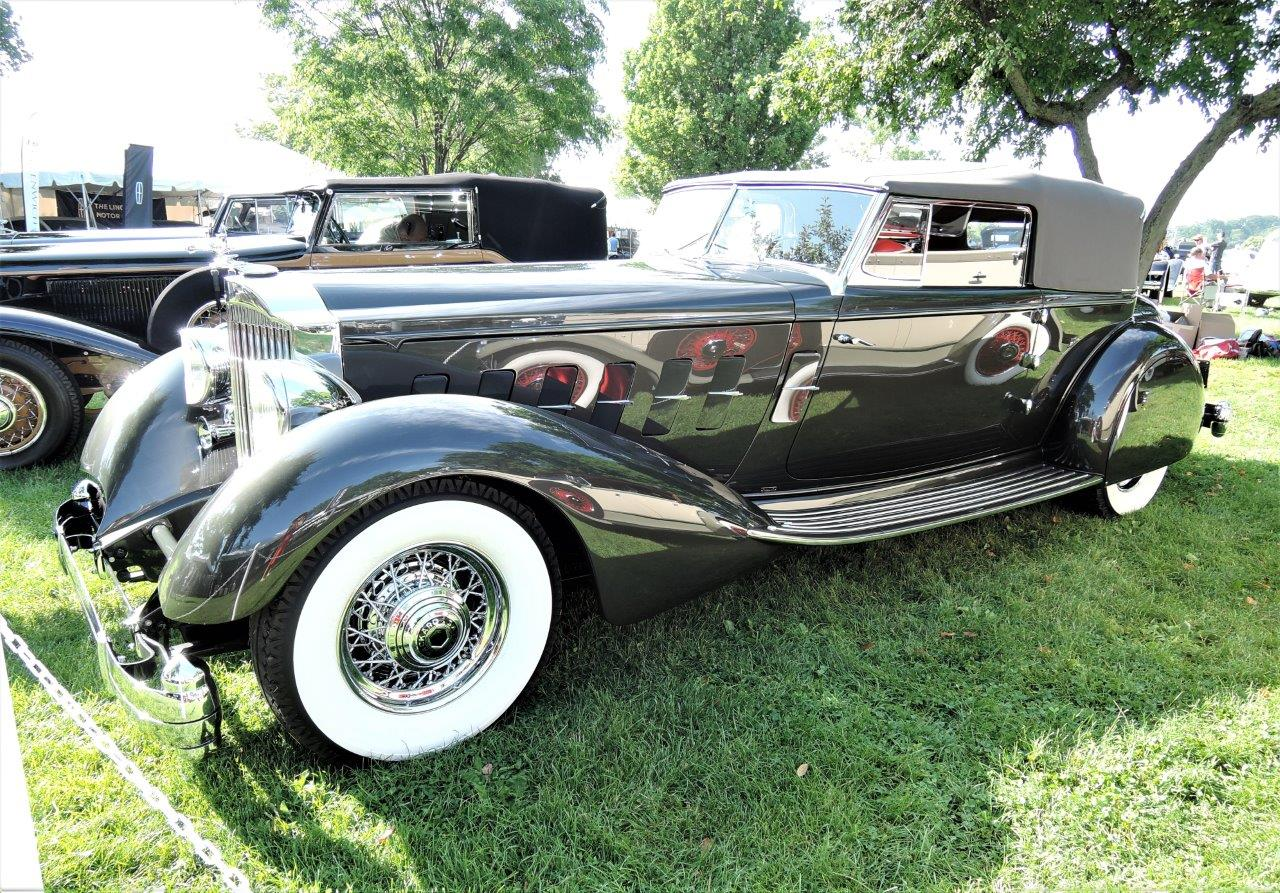 grey 1934 Packard Convertible Victoria - 2018 Greenwich Concours Americana