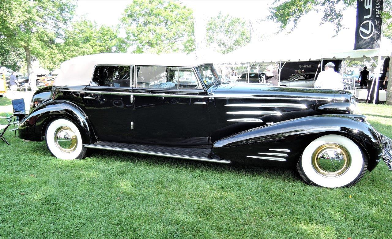 black 1934 Cadillac Convertible Sedan - 2018 Greenwich Concours Americana