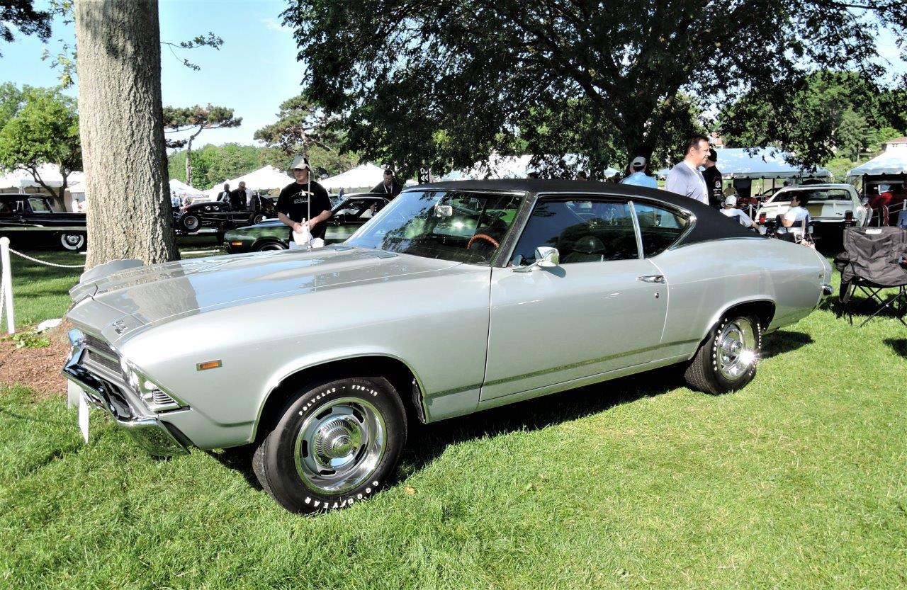 silver 1969 Chevrolet COPO Chevelle - 2018 Greenwich Concours Americana