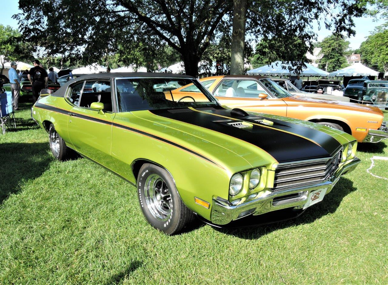green 1971 Buick GSX - 2018 Greenwich Concours Americana