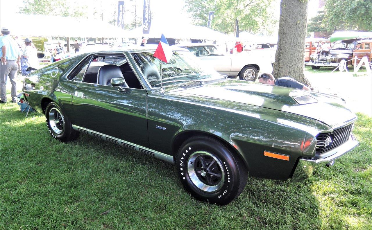 green 1970 American Motors AMX - 2018 Greenwich Concours Americana