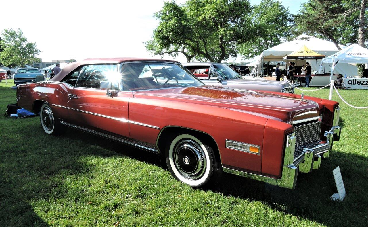 red 1976 Cadillac Eldorado - 2018 Greenwich Concours Americana