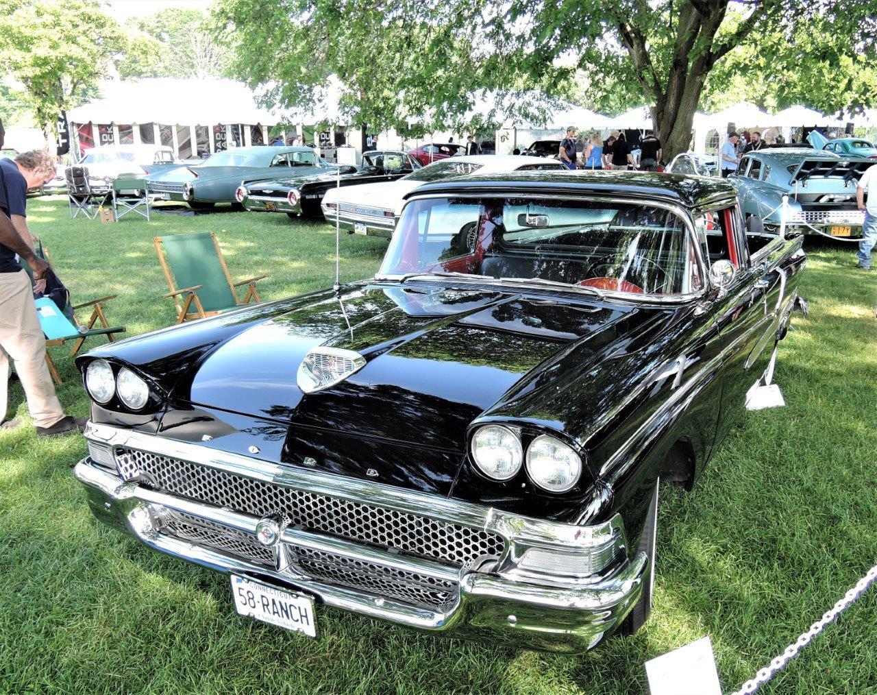 black 1958 Ford Ranchero - 2018 Greenwich Concours Americana