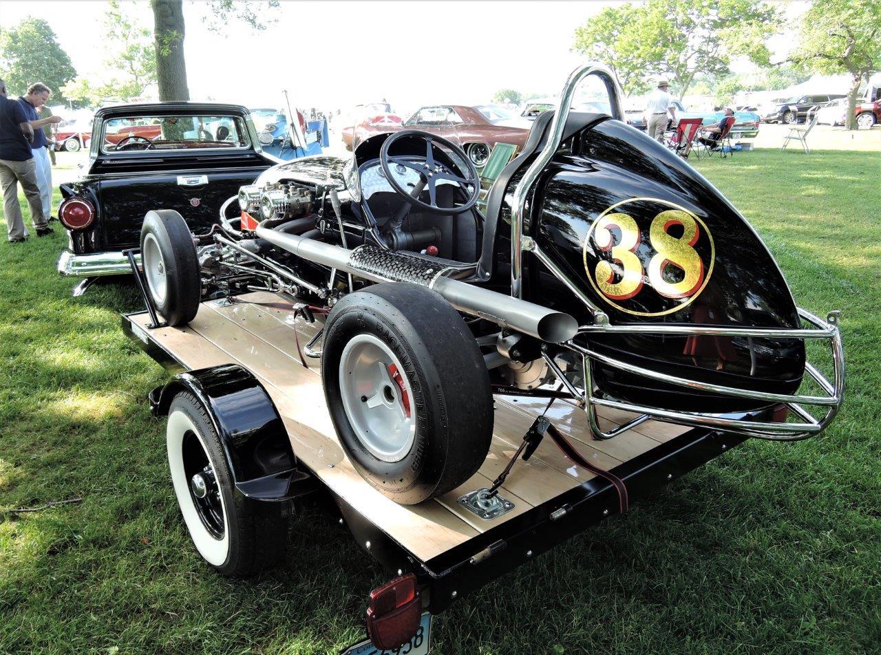 black 1950 Kurtis Kraft Midget racer - 2018 Greenwich Concours Americana