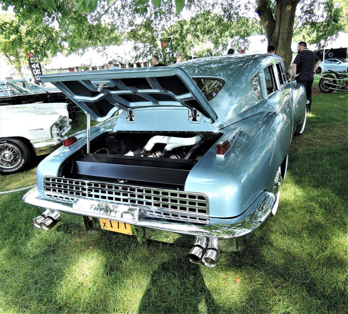 blue The Tucker was built by IDA Automotive and was driven to the award ceremony by Sean Tucker, the grandson of Preston Tucker - 2018 Greenwich Concours Americana