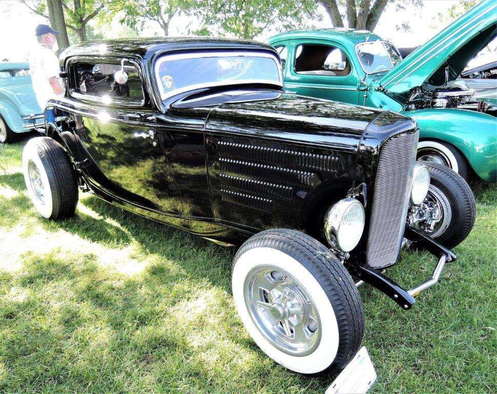 black 1932 Ford 3 Window Coupe - 2018 Greenwich Concours Americana