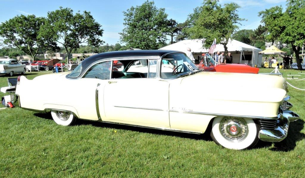 white 1954 Cadillac Coupe de Ville - 2018 Greenwich Concours Americana