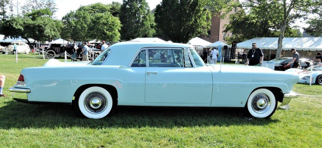 blue 1956 Continental Mk II - 2018 Greenwich Concours Americana