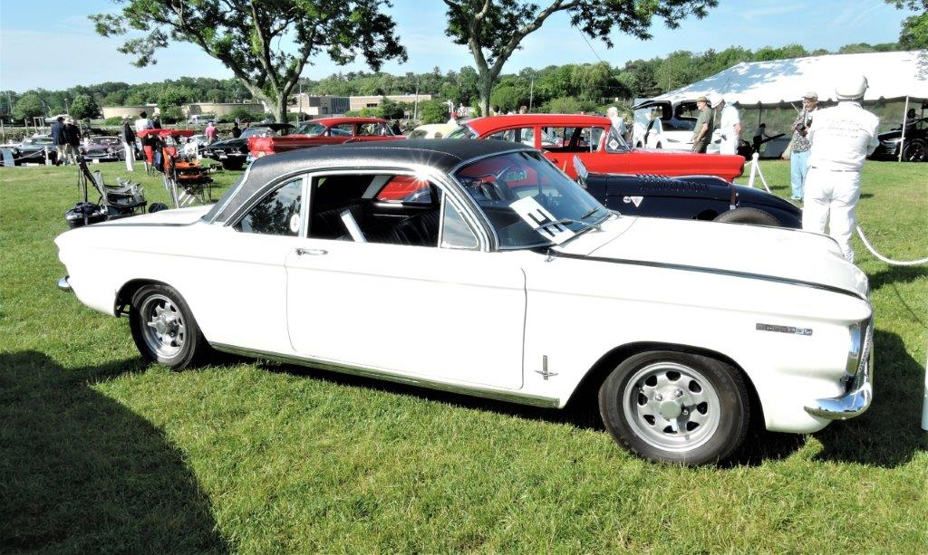 white 1962 Corvair Corsa Fitch Sprint - 2018 Greenwich Concours Americana