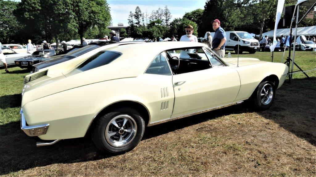 yellow 1967 Pontiac Fitch Firebird - 2018 Greenwich Concours Americana