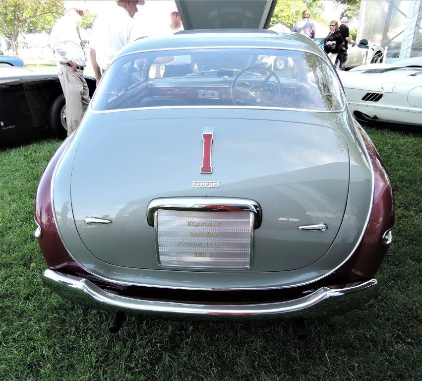 silver/dark red 1950 Ferrari 195 S Inter Vignale Speciale Competizione - 2018 Greenwich Concours Americana