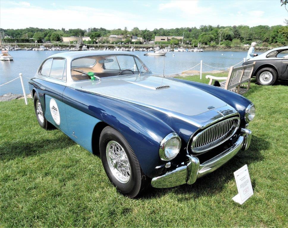 blue/blue 1952 Cunningham C-3 - 2018 Greenwich Concours Americana