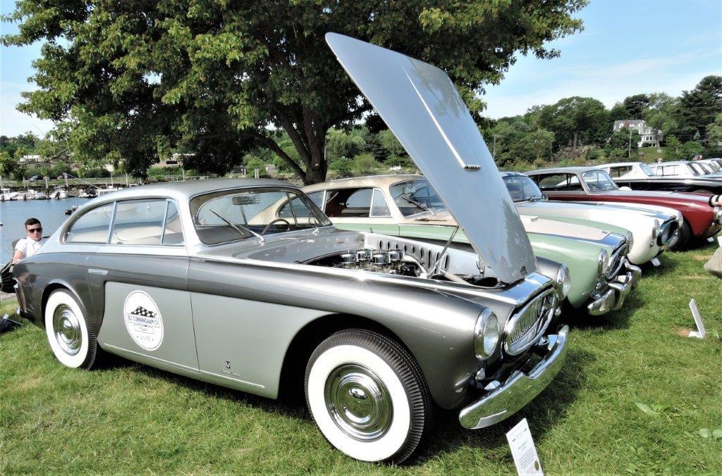 silver/grey 1954 Cunningham C-3 - 2018 Greenwich Concours Americana