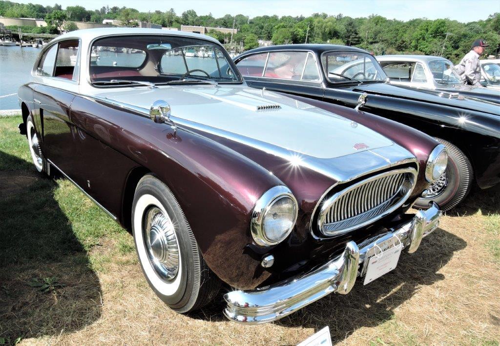 dark red/silver 1953 Cunningham C-3 - 2018 Greenwich Concours Americana
