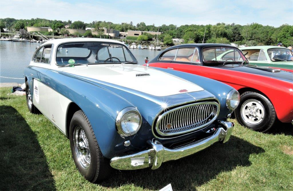 blue/silver 1953 Cunningham C-3; - 2018 Greenwich Concours Americana