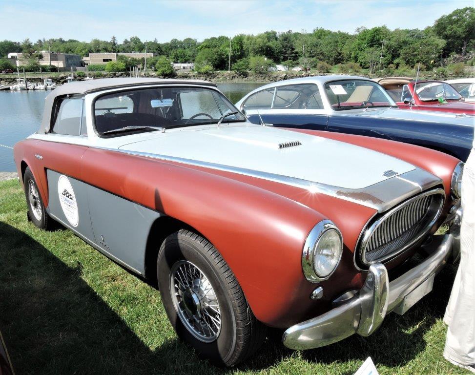 orange/silver 1952 Cunningham C-3 Cabriolet - 2018 Greenwich Concours Americana