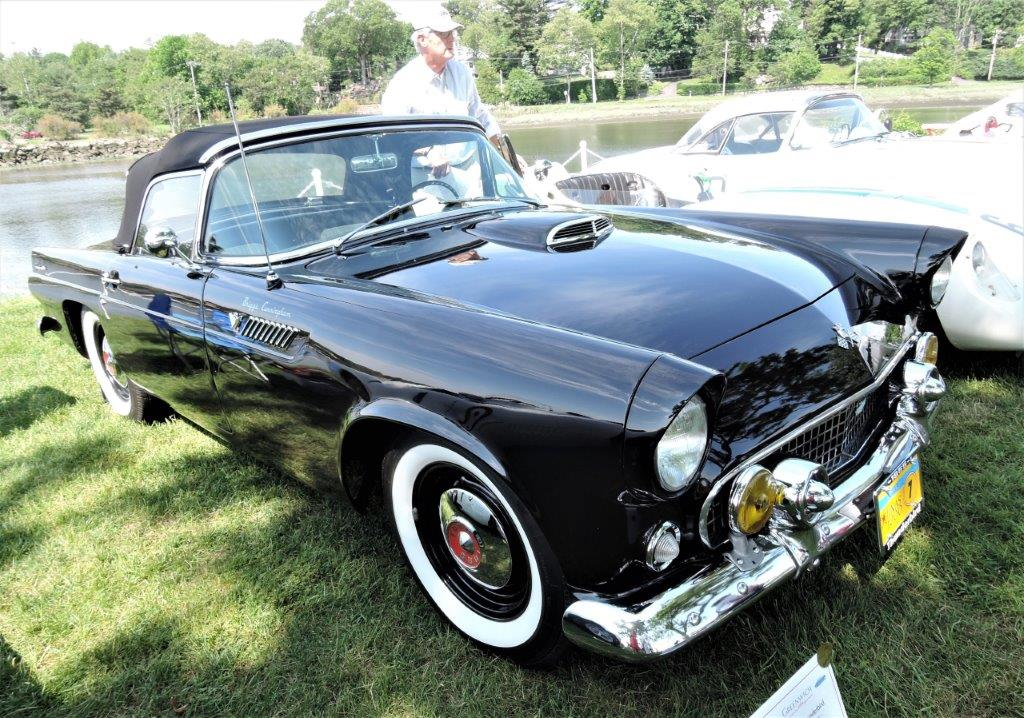 black Briggs Cunningham's 1955 Ford Thunderbird - 2018 Greenwich Concours Americana