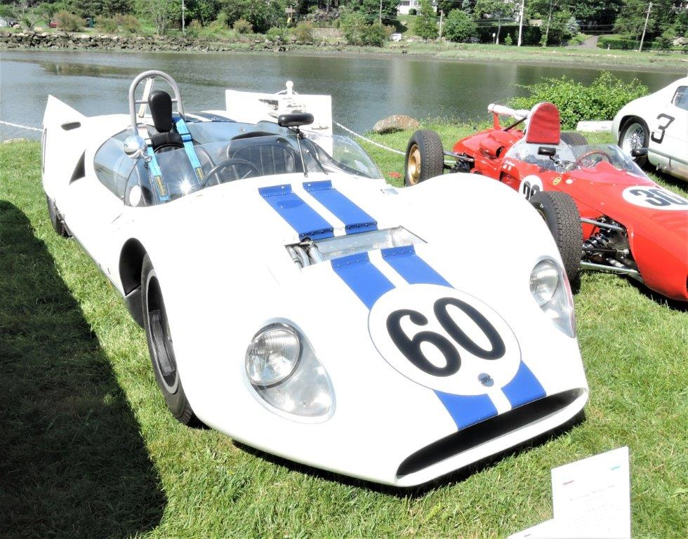 white/blue 1961 Cooper Monaco MK III - 2018 Greenwich Concours Americana