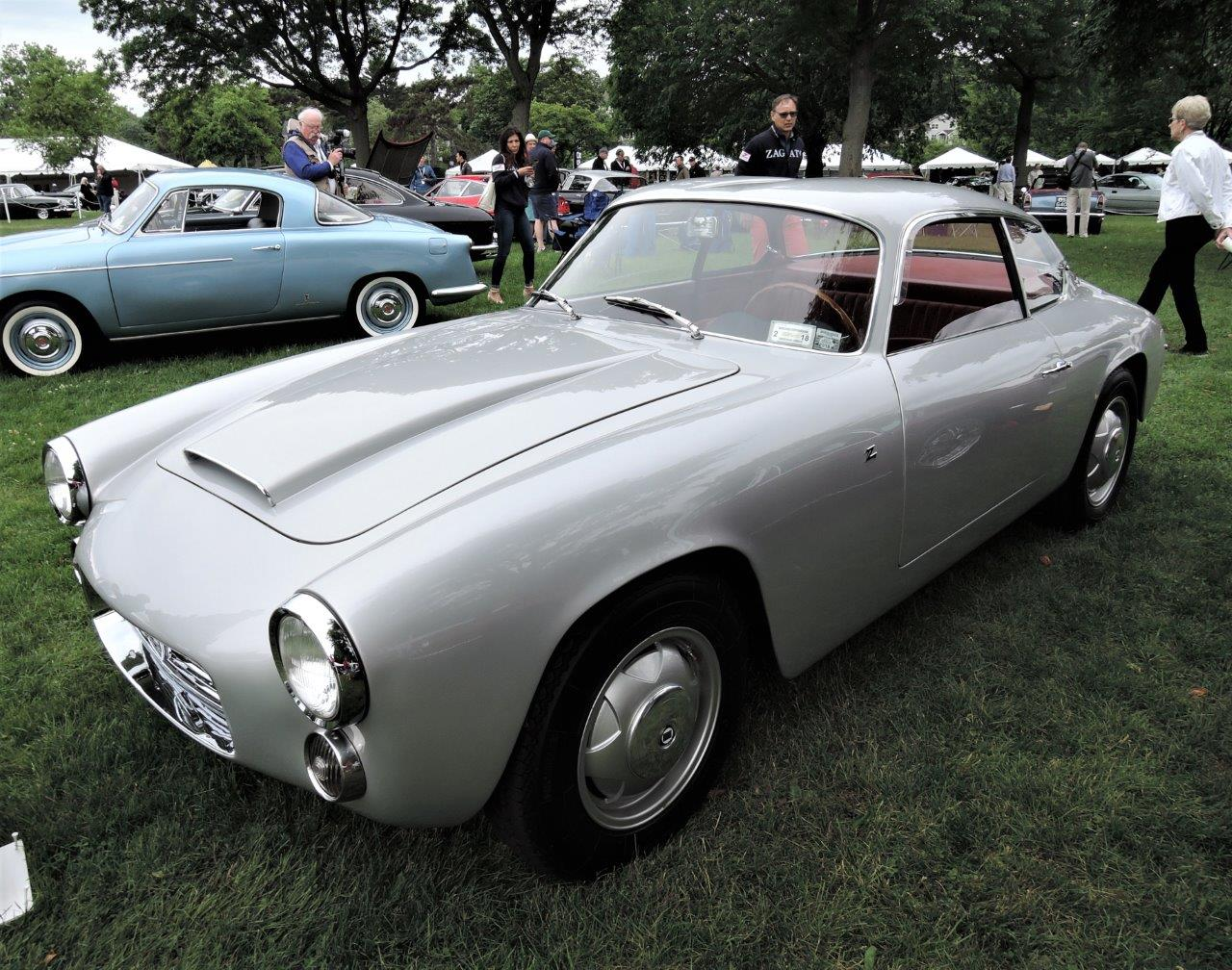 silver 1960 Lancia Flaminia Sport - 2018 Greenwich Concours International