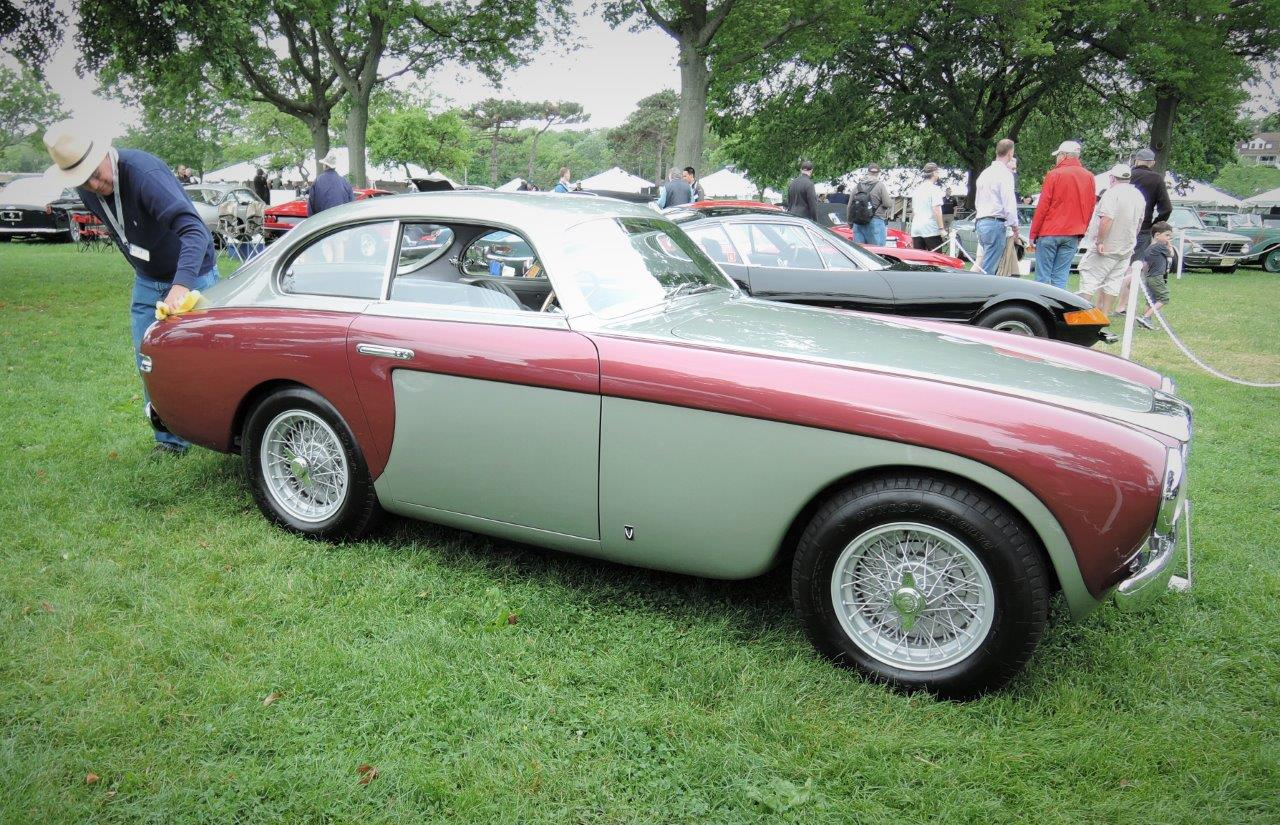 dark red/grey 1950 Ferrari 195 S - 2018 Greenwich Concours International