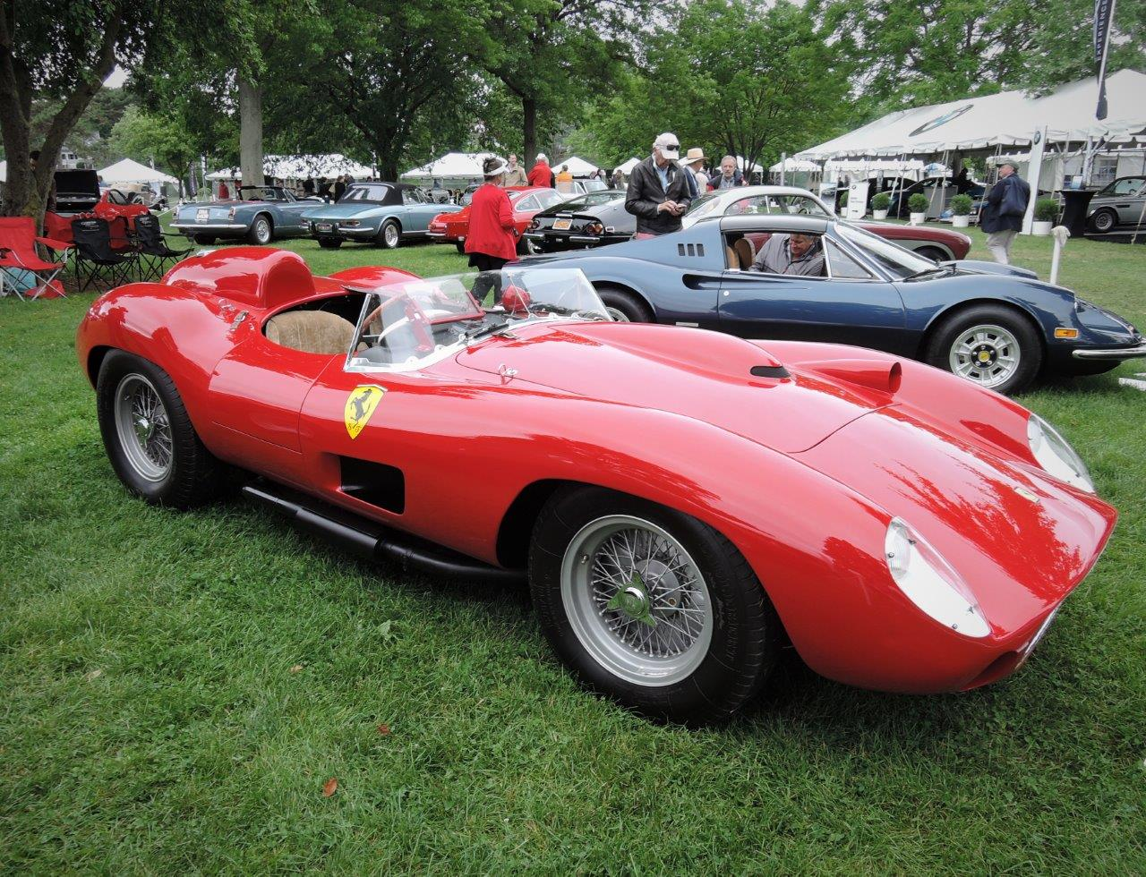 red 1957 Ferrari 335 Sport Spider Scaglietti - 2018 Greenwich Concours International