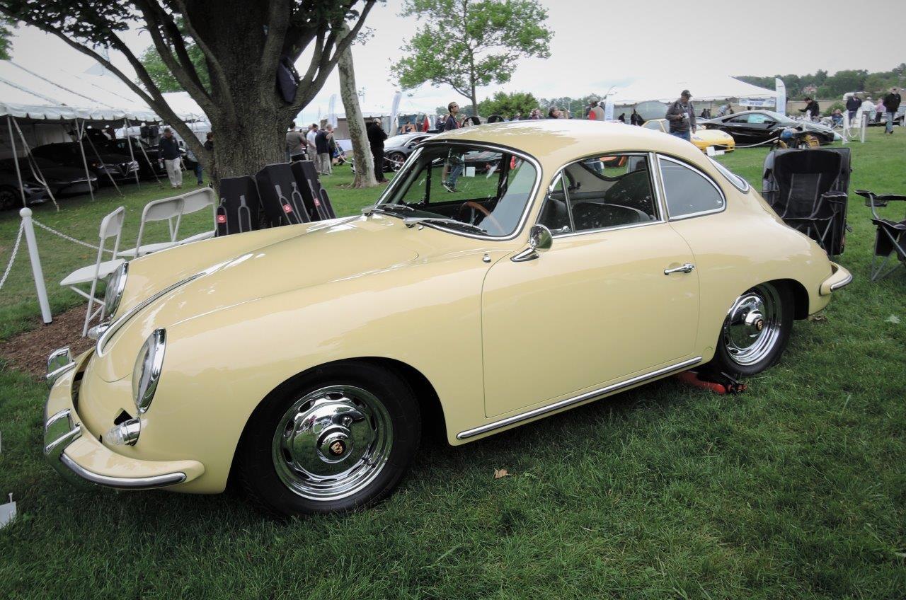 yellow 1963 Porsche Carrera - 2018 Greenwich Concours International