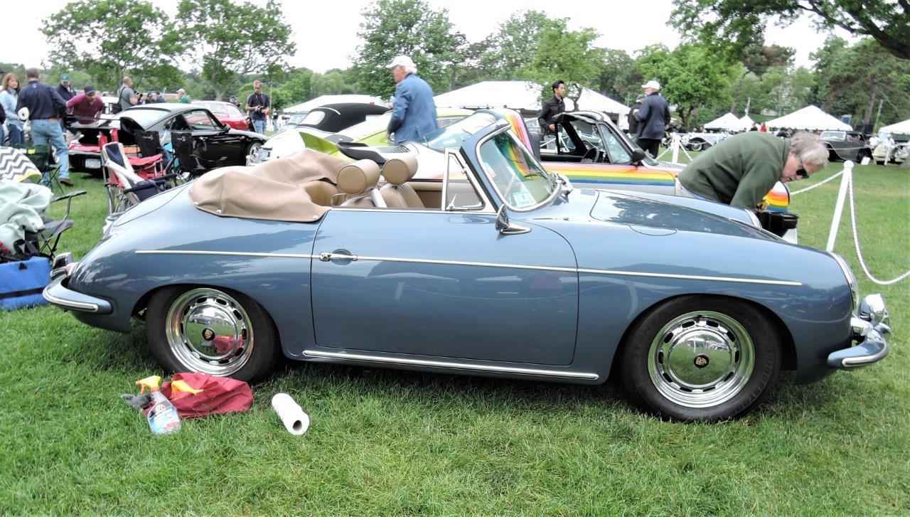 blue 1964 Porsche 356 SC - 2018 Greenwich Concours International